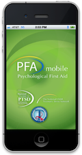 PFA Mobile device home page