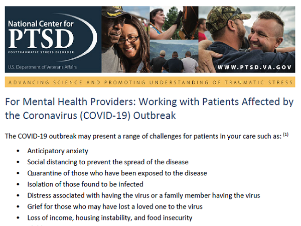 Image of PDF: For Mental Health Providers: Working with Patients Affected by the Coronavirus (COVID-19) Outbreak
