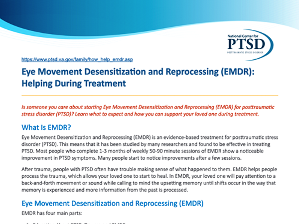 Image of PDF: Eye Movement Desensitization and Reprocessing (EMDR): Helping During Treatment