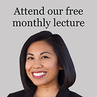 Attend our free monthly lecture series