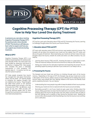 How to Help Your Loved One during Cognitive Processing Treatment